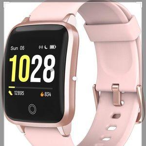 NIB Letscom Smart Multi-function Watch in Pink!